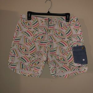 Patterned Above the Knee Shorts